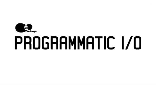 PROGRAMMATIC I/O   Oct 25-26