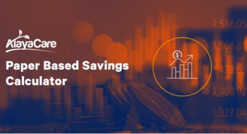 Paper-based savings calculator
