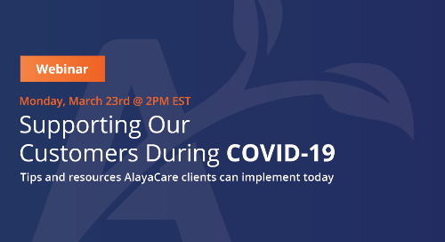 Supporting your staff during COVID-19 - AlayaCare