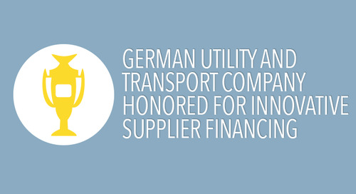 Duisburg Utility and Transport Company is Honored for Innovative Supplier Financing