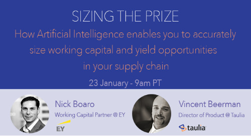 Webinar: Sizing the Prize - using AI to size the WC and yield opportunities in your supply chain