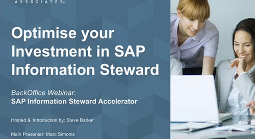 Optimise Your Investment in SAP Information Steward
