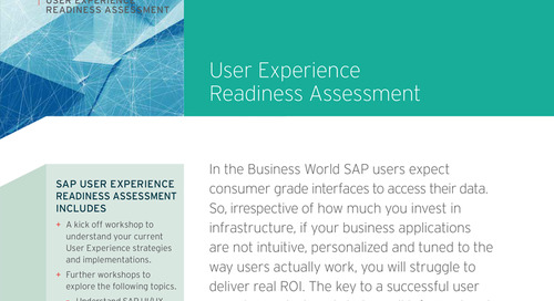 SAP User Experience Readiness Assessment