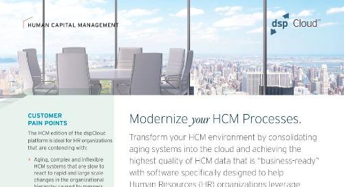 Modernized HCM Processes