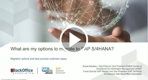 What are my options to migrate to SAP S/4HANA?