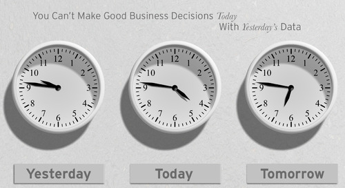 You Can't Make Business Decisions Today Using Yesterday's Data