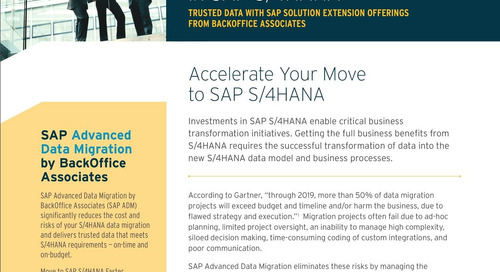 Data Migration for SAP S/4HANA