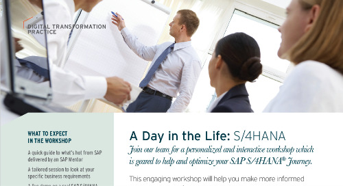 A Day In The Life: SAP S/4HANA