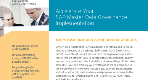 Accelerate SAP Master Data Governance