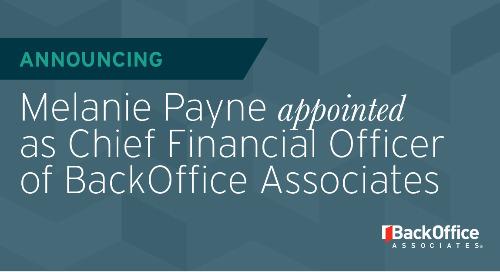 BackOffice Associates Appoints Melanie Payne as New Transformational CFO