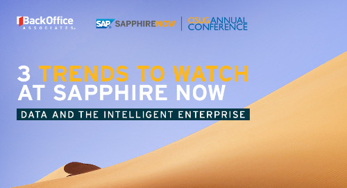 3 Trends to Watch at SAPPHIRE NOW 2019: Data and the Intelligent Enterprise
