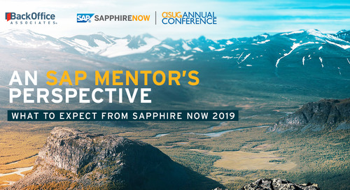 An SAP Mentor's Perspective: What to Expect from SAPPHIRE NOW 2019