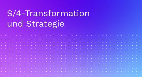 S/4-Transformation und Strategie