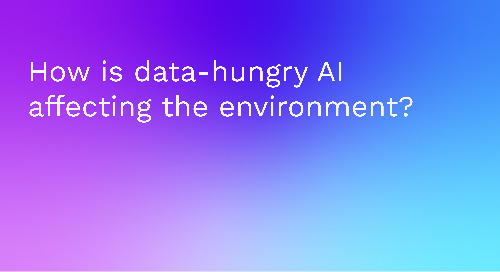 How is data-hungry AI affecting the environment?