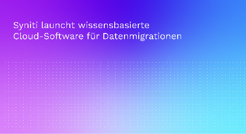 Syniti launcht wissensbasierte Cloud-Software für Datenmigrationen