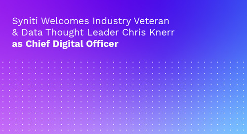 Syniti Welcomes Industry Veteran & Data Thought Leader Chris Knerr as Chief Digital Officer