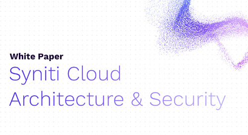 Syniti Cloud Architecture and Security