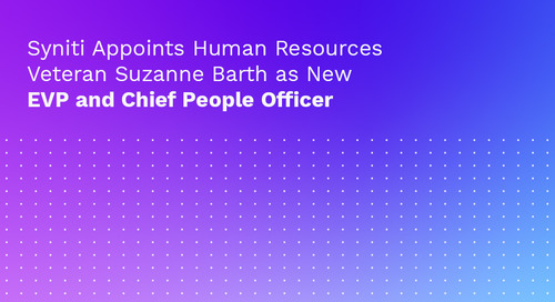 Syniti Appoints Human Resources Veteran Suzanne Barth as New EVP and Chief People Officer