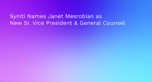Syniti Names Janet Mesrobian as New Sr. Vice President & General Counsel
