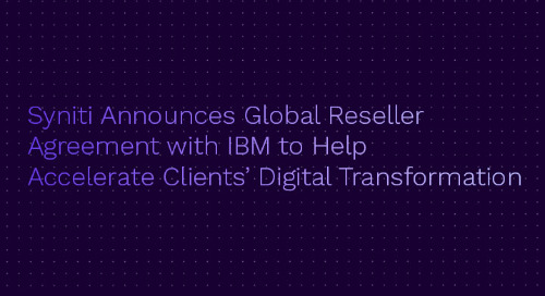 Syniti Announces Global Reseller Agreement with IBM to Help Accelerate Clients' Digital Transformation