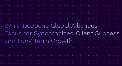 Syniti Deepens Global Alliances Focus for Synchronized Client Success and Long-term Growth