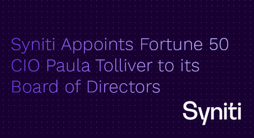 Syniti Appoints Fortune 50 CIO Paula Tolliver to its Board of Directors