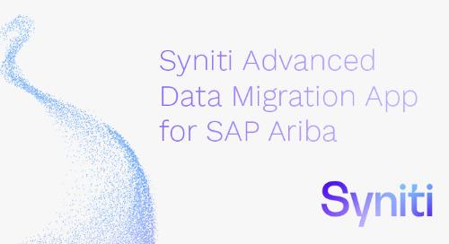 Syniti Advanced Data Migration App for SAP Ariba