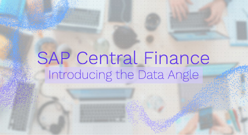 SAP Central Finance: Introducing the Data Angle