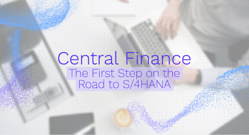 Central Finance: The First Step on the Road to S/4HANA