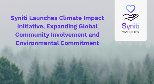 Syniti Launches Climate Impact Initiative, Expanding Global Community Involvement and Environmental Commitment