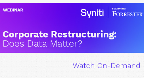 Forrester Webinar - M&A - Corporate Restructuring: Does data matter?