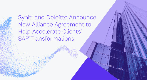Syniti and Deloitte Announce New Alliance Agreement to Help Accelerate Clients' SAP Transformations