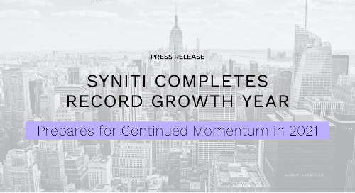 Syniti Completes Record Growth Year, Prepares for Continued Momentum in 2021