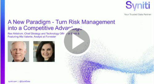 A New Paradigm – Turn Risk Management into a Competitive Advantage