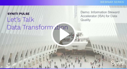 Demo: Information Steward Accelerator (ISA) for Data Quality