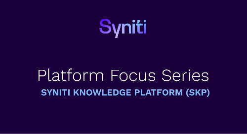 Platform Focus Series: Syniti Knowledge Platform