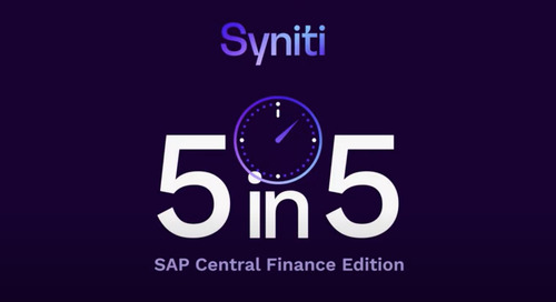 5 in 5 FAQs - SAP Central Finance Edition