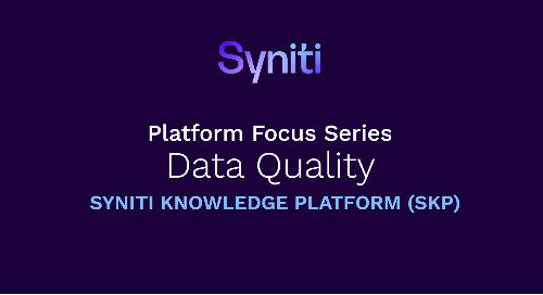 Platform Focus Series: Syniti Knowledge Platform - Data Quality