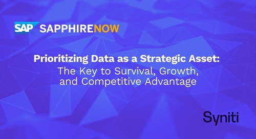 Prioritizing Data as a Strategic Asset:  The Key to Survival, Growth, and Competitive Advantage