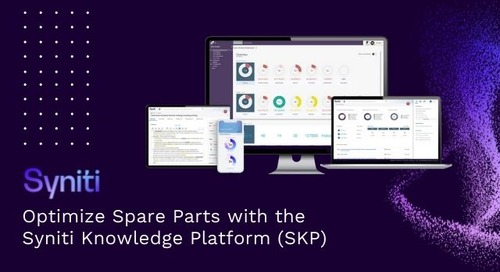 Optimize Spare Parts with the Syniti Knowledge Platform (SKP)