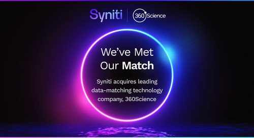 Syniti Acquires Leading Data Matching Technology Company 360Science