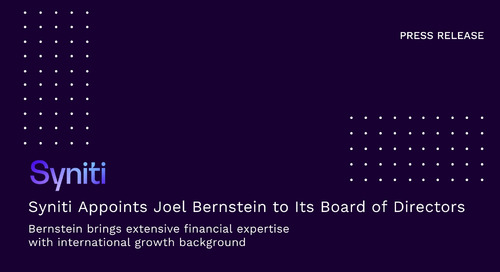 Syniti Appoints Joel Bernstein to Its Board of Directors