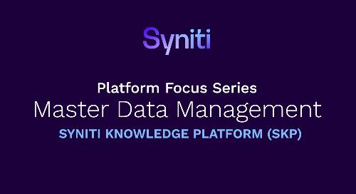 Platform Focus Series: Master Data Management