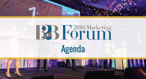 Uberflip's B2B Marketing Forum Agenda