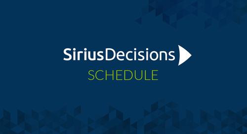 Uberflip's SiriusDecisions 2016 Technology Exchange Agenda