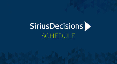 Uberflip's SiriusDecisions 2016 Technology Exchange Agenda