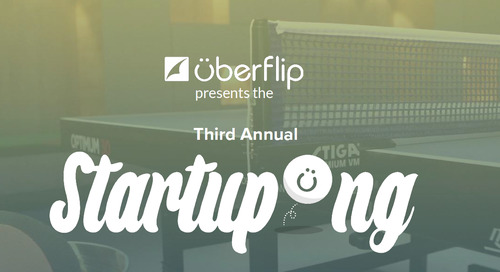 Startupong is Back: Uberflip Announces Charity Ping Pong Tournament for Tech Startups