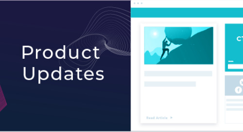 October and November Product Updates