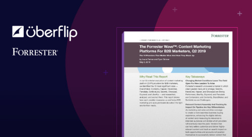 Uberflip Named a Contender in Content Marketing Platforms for B2B Marketers