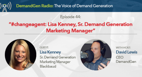 Lisa Kenney joins DemandGen Radio to Share her Passion for Marketing and Technology